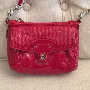 Authentic Coach red patent crossbody bag